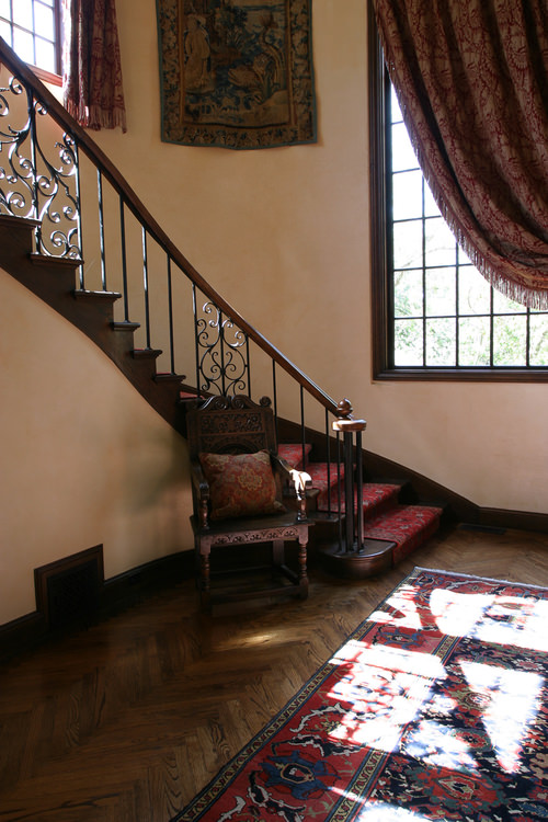 17th century style oak and Iron staircase