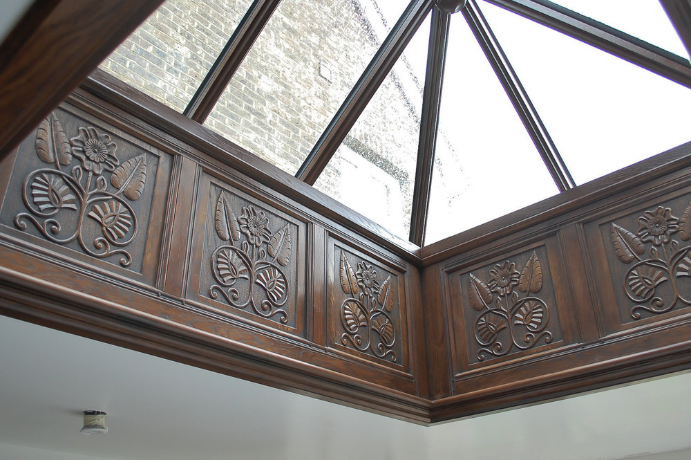 17th style century panelled roof lantern