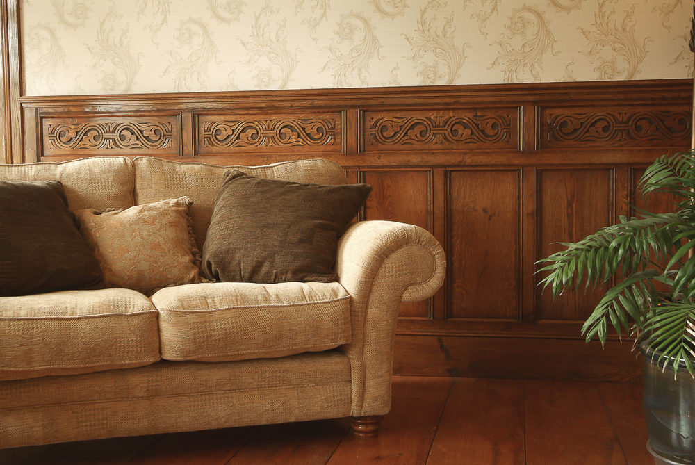 Solid oak low level dado panelling 17th century style