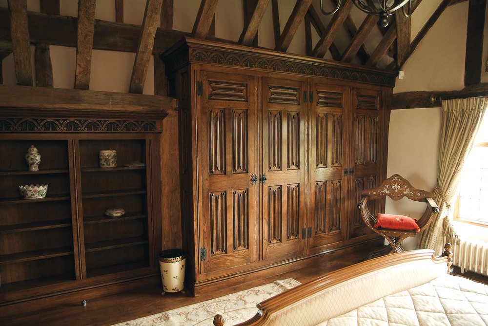 Gothic style fitted furniture