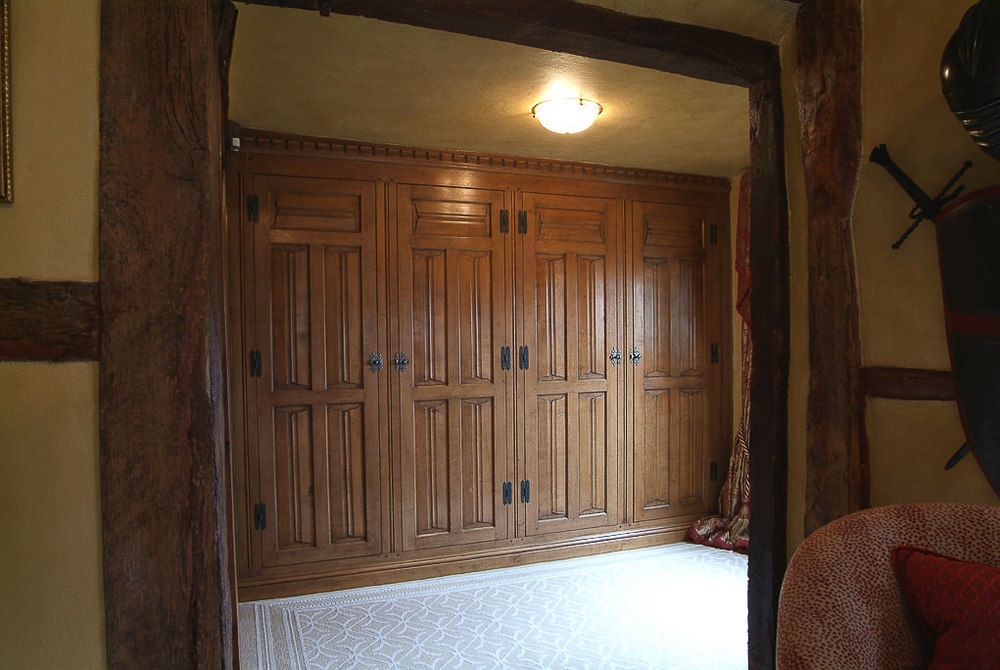 Oak panelled wardrobes