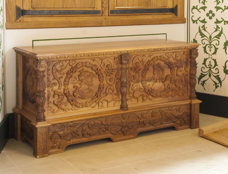 Completed Walnut chest for stirling castle