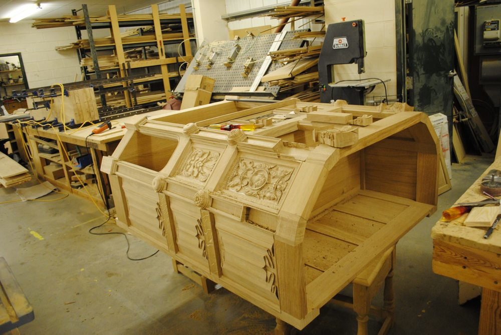 16th century style Furniture making in progress