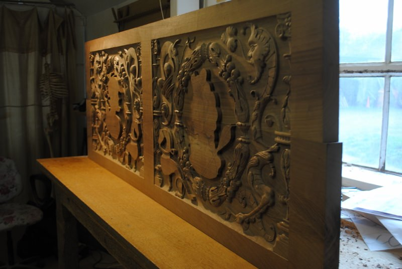 Hand carved french walnut for stirling castle