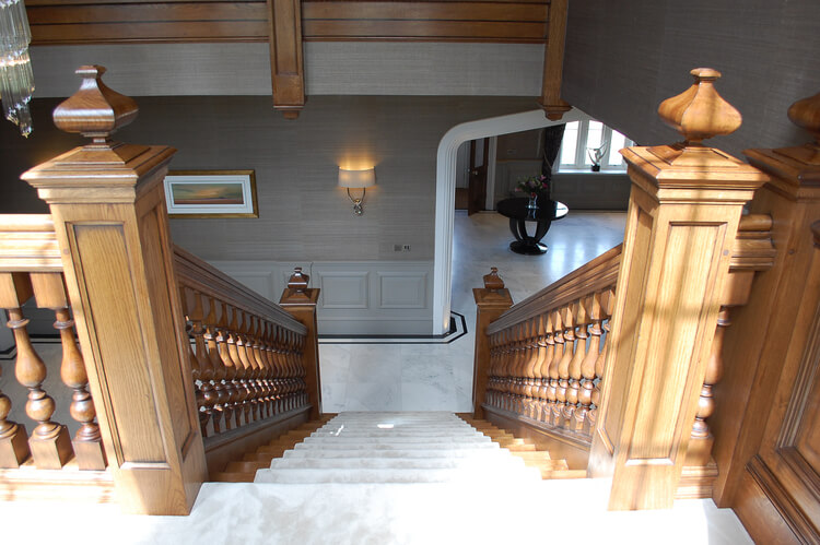 ... Oak Panelled Newel Posts And Finials Deatils Of This Large Georgian  Style ...