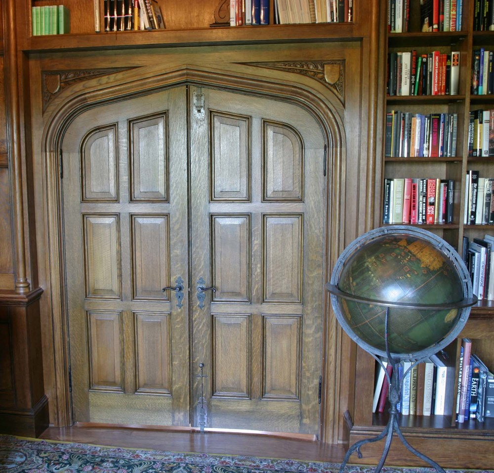Tudor arch oak panelled double doors & Tudor Oak Doors and Gothic 16th 17th Century Carved Styles