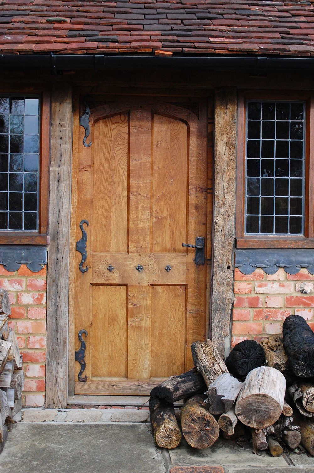 Vernacular 17th century style oak panelled door & Tudor Oak Doors and Gothic 16th 17th Century Carved Styles