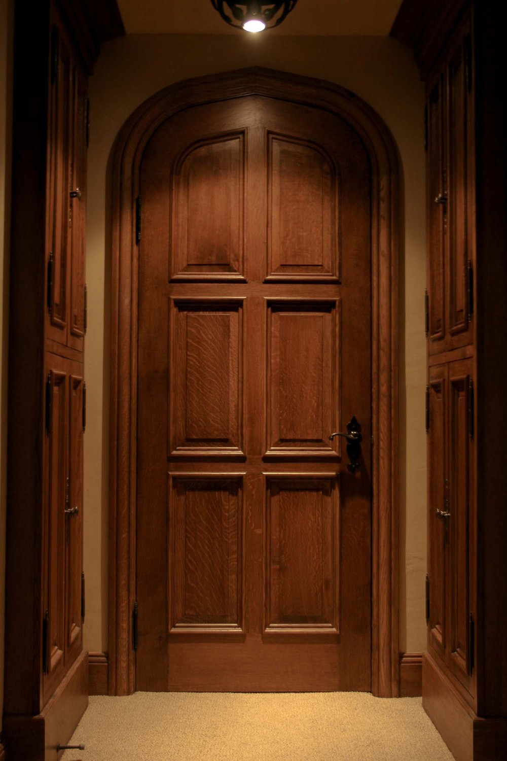 Internal oak panelled arched head door & Tudor Oak Doors and Gothic 16th 17th Century Carved Styles