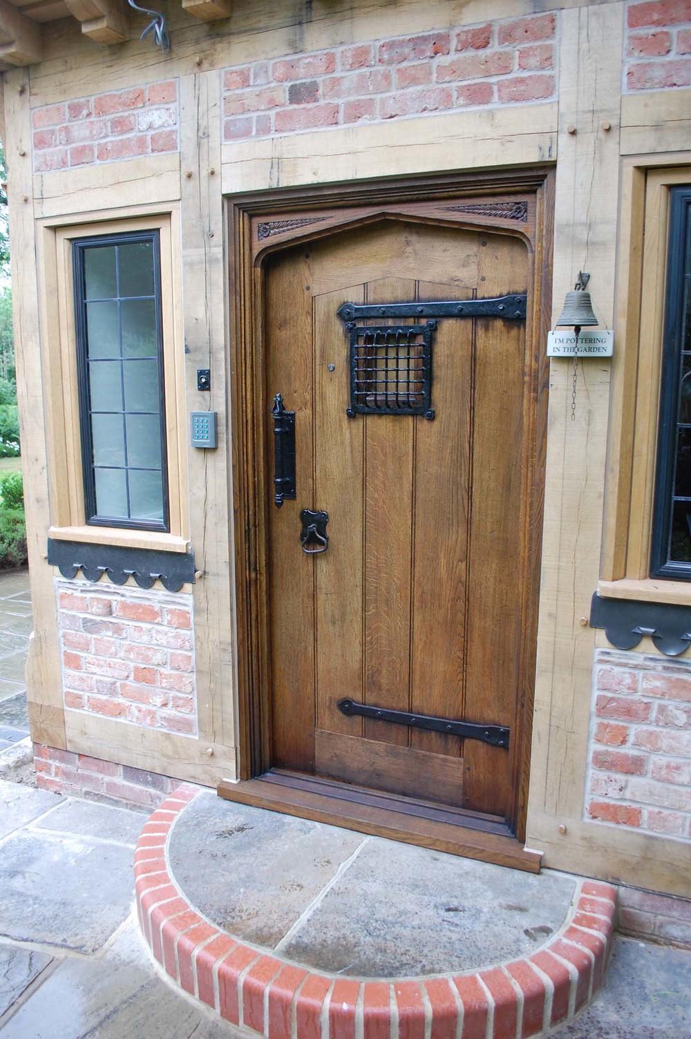 Tudor Style External oak Door & Tudor Oak Doors and Gothic 16th 17th Century Carved Styles