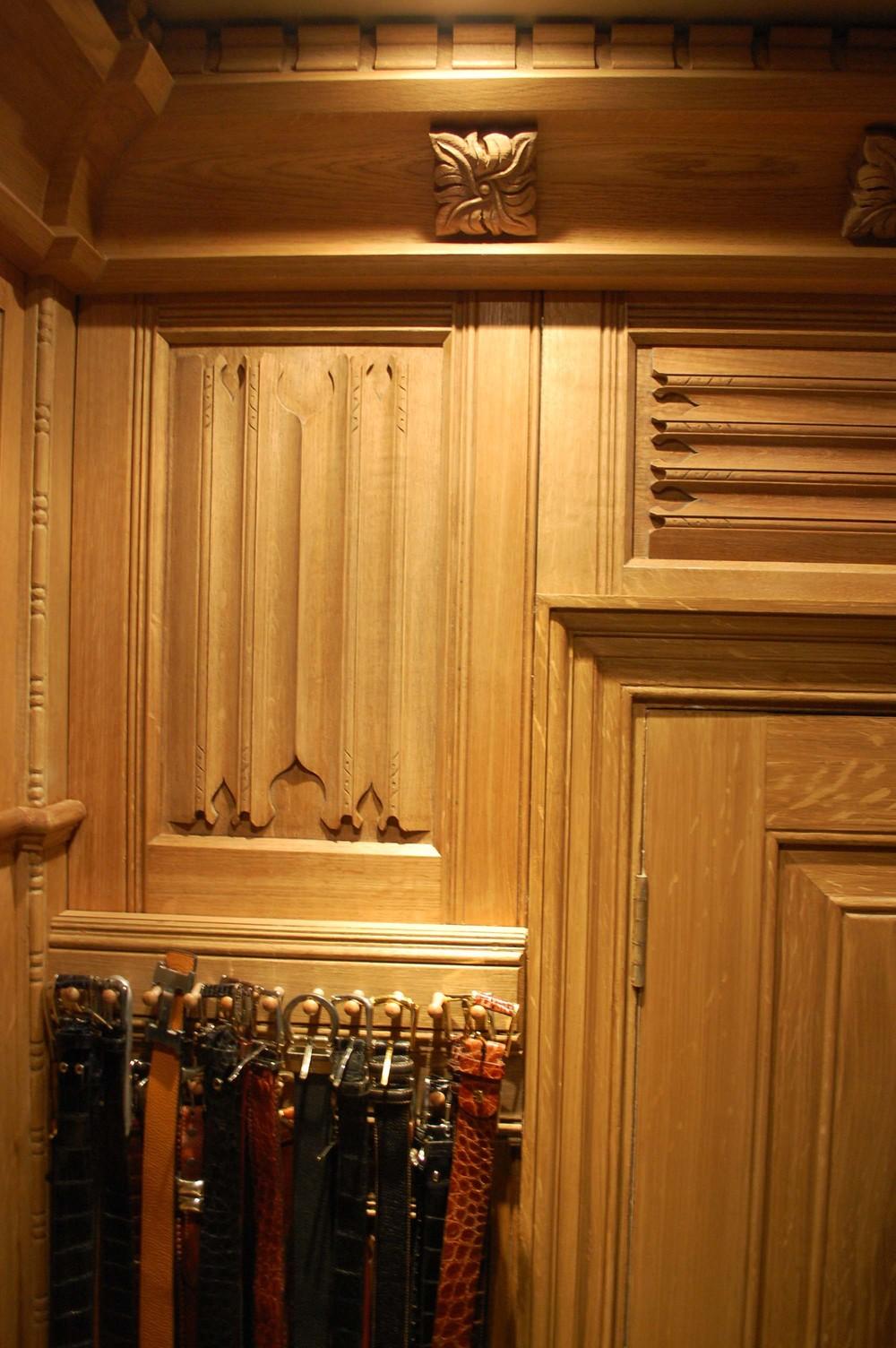 Solid oak shoe storage cabinet