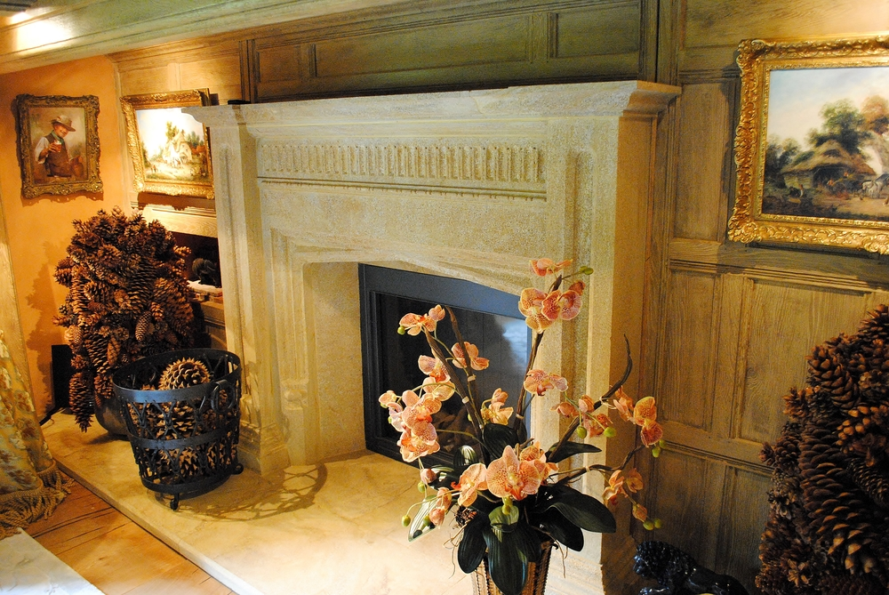 Hamstone fireplace for a period property