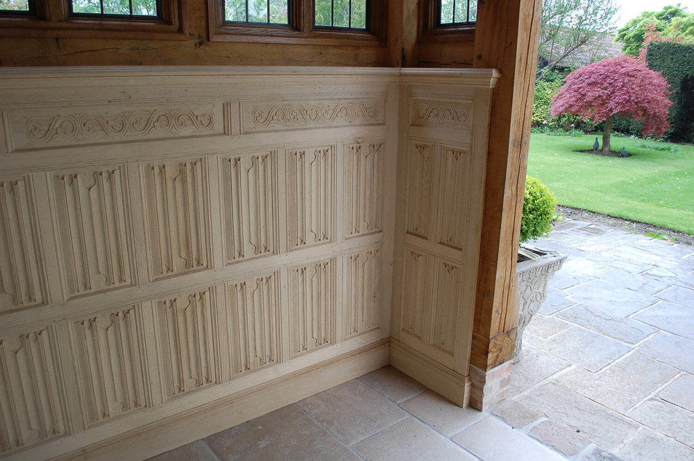 Bespoke solid oak panelling, made to order designs