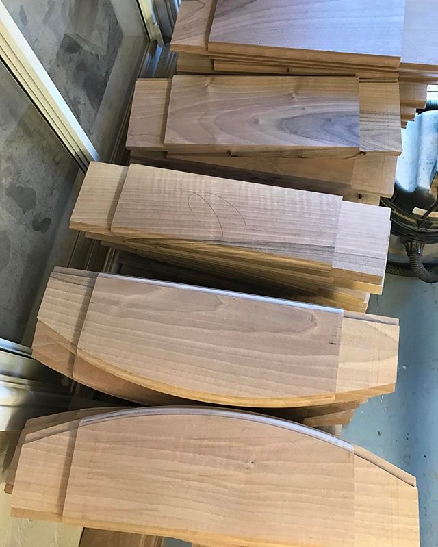 A stack European walnut panelled door components. Fully underway with this special project. #arttus