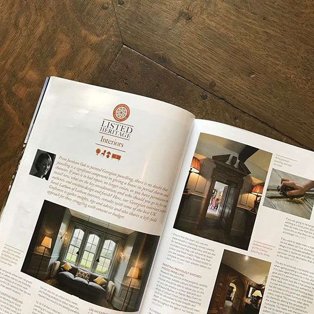 Nice to be featured in an article about oak panelling, in the  listed property owners club magazine. . #Arttus