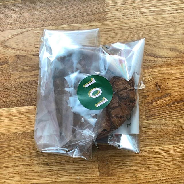 Sending Crownies (brownie/cookie hybrid - it's a thing) though the post. The future is here. 🚀🚀🚀