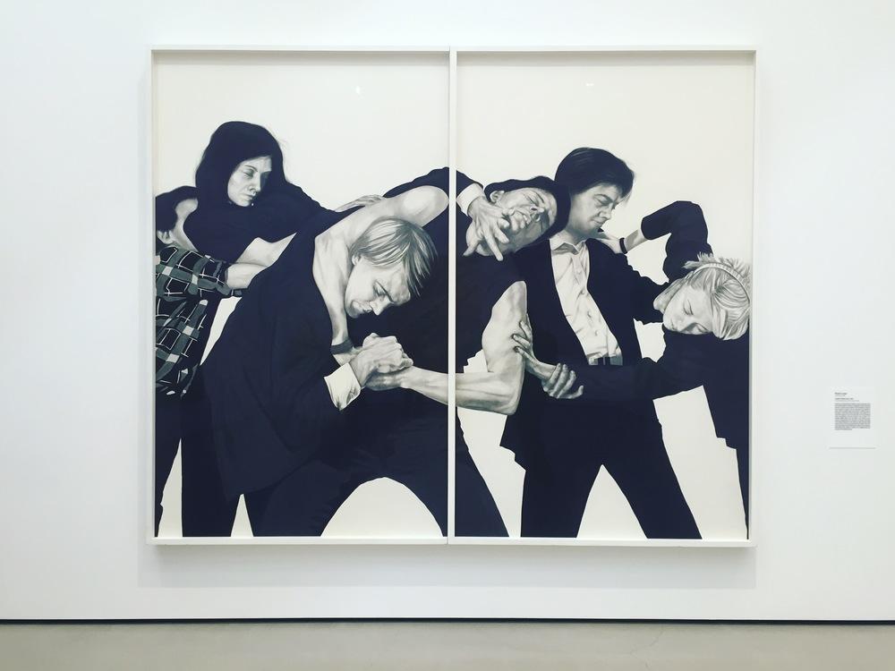Robert Longo, Untitled (White Riot), 1982