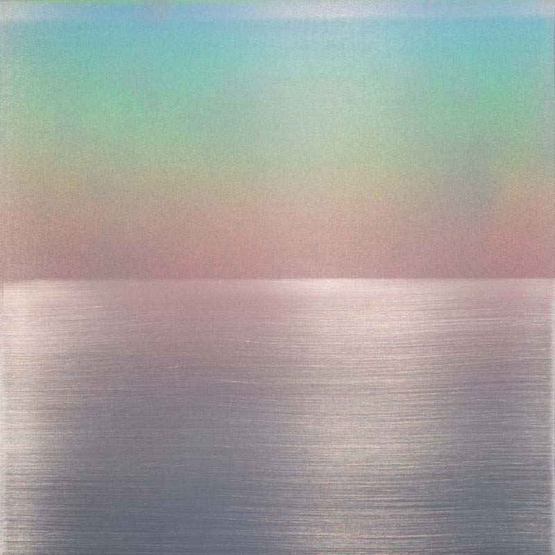 Miya Ando, Perception 4, 2015 Urethane and pigment on aluminum, 12 × 12 in, 30.5 × 30.5 cm