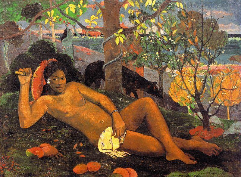 Paul Gauguin, Te Arii Vahine (The Nobel Woman), 1892 via Global Gallery.