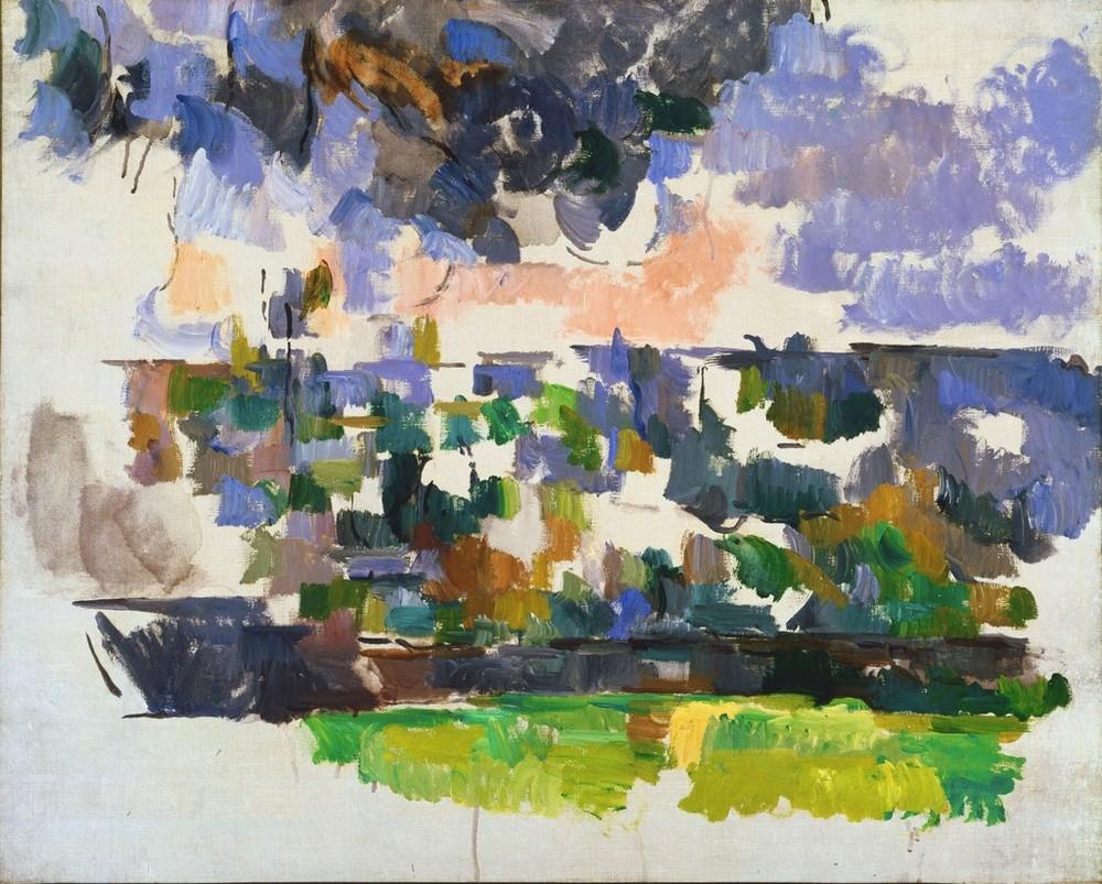 Paul Cezanne, The Garden at Les Lauves, 1906 via artsy.