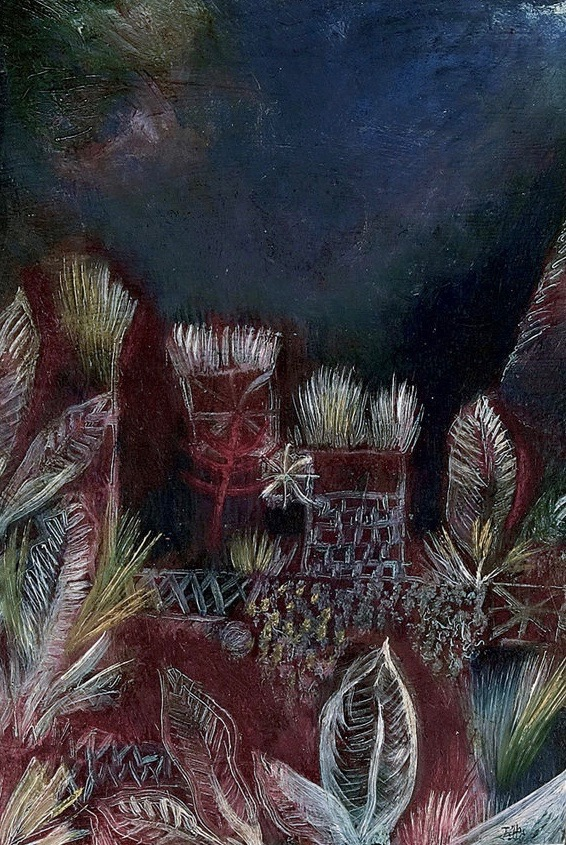 Paul Klee, Tropical Twilight, 1921 via The Art Stack.