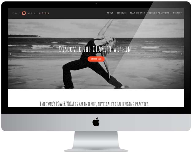 empower yoga studio website
