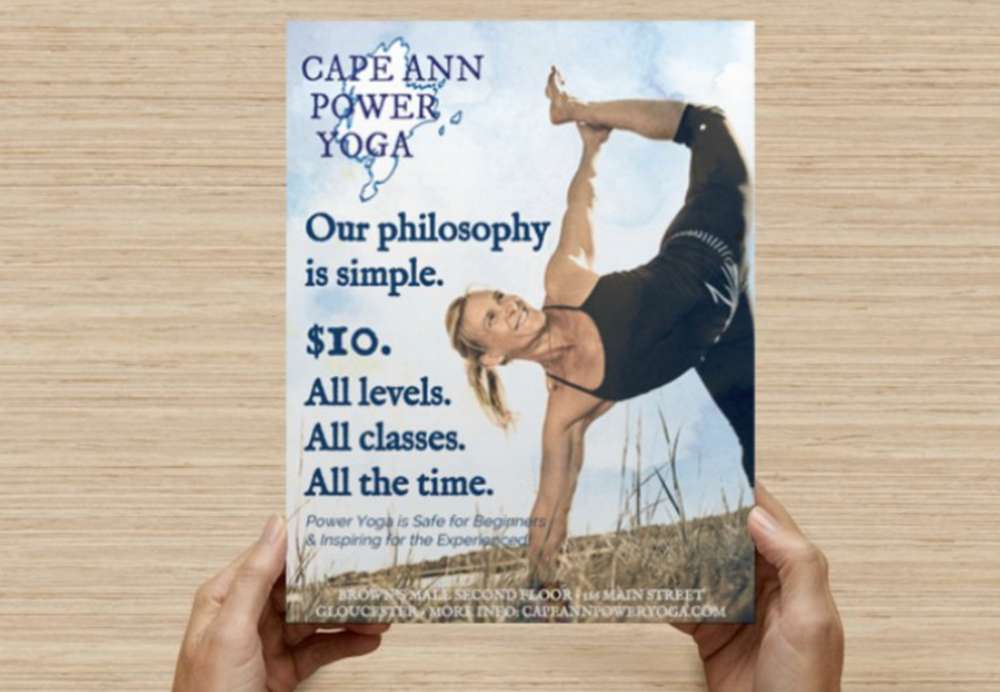 cape ann yoga flyer