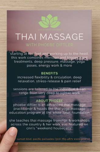 Goorus thai massage flyer