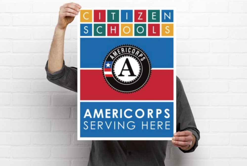 AmeriCorps Serving Here Signage