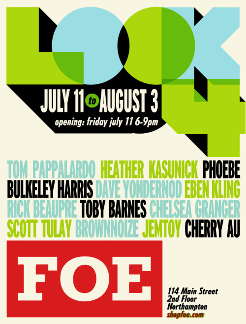 CLIENT: FOE Art Gallery LOOK 4 event poster