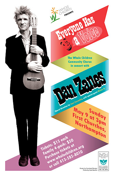 CLIENT: Whole Children Event poster for Dan Zanes