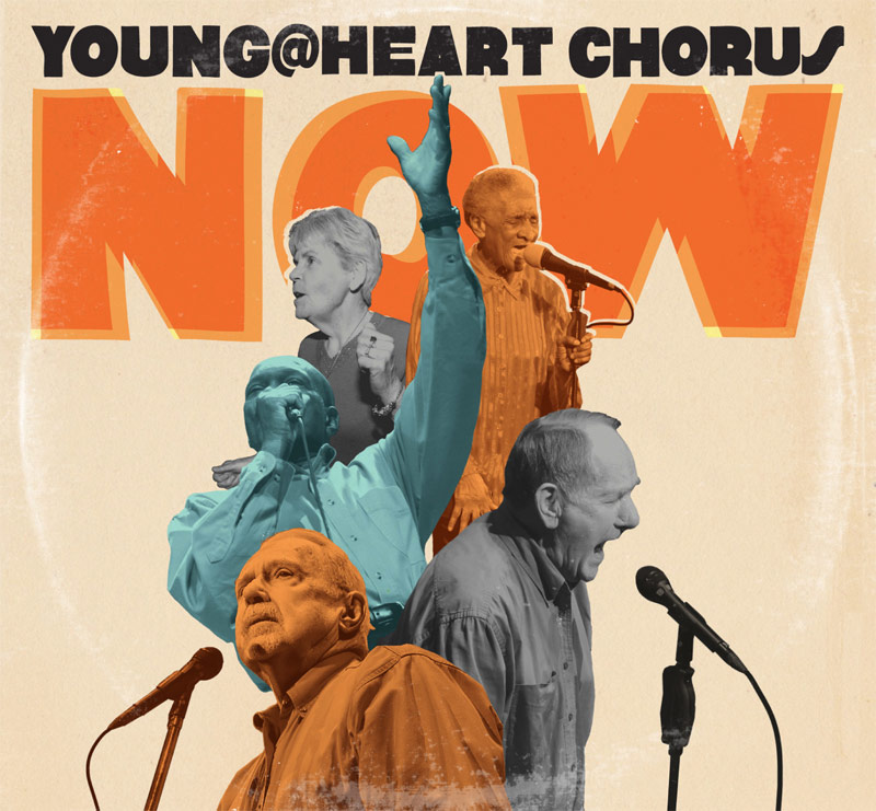 "CLIENT: Young@Heart Chorus ""NOW"" digipak layout & design.    See more of this project."