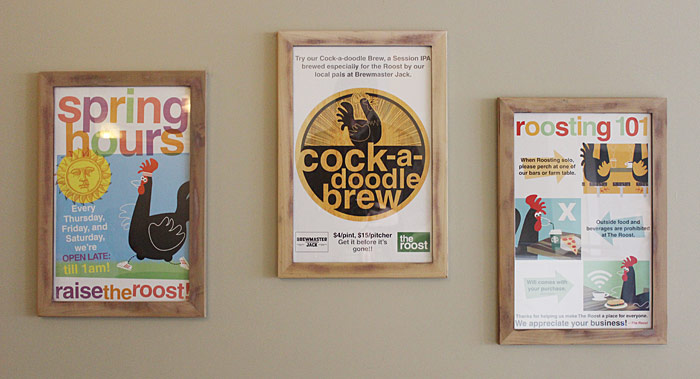 CLIENT: The Roost In-store posters