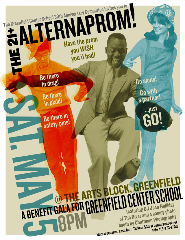 CLIENT: Greenfield Center School Event poster for ALTERNAPROM!