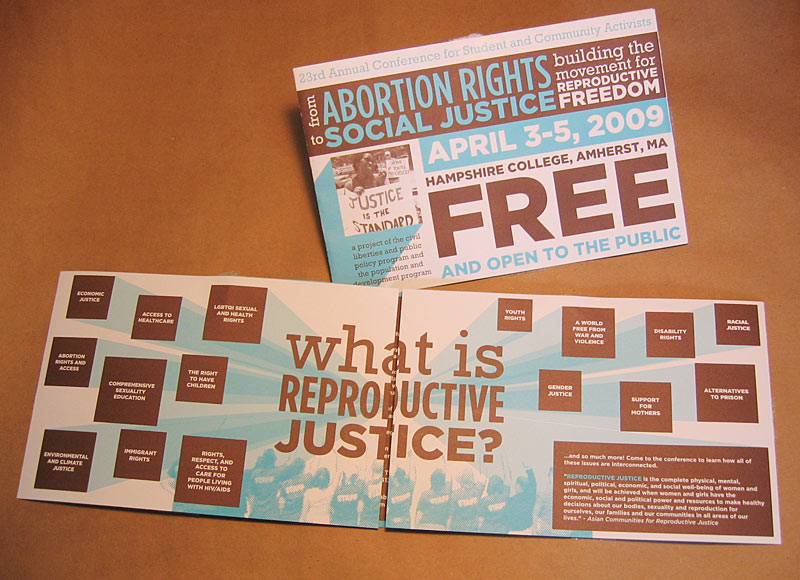 "CLIENT: Civil Liberties and Public Policy Event mailer for CLPP's ""From Abortion Rights To Social Justice"" conference."