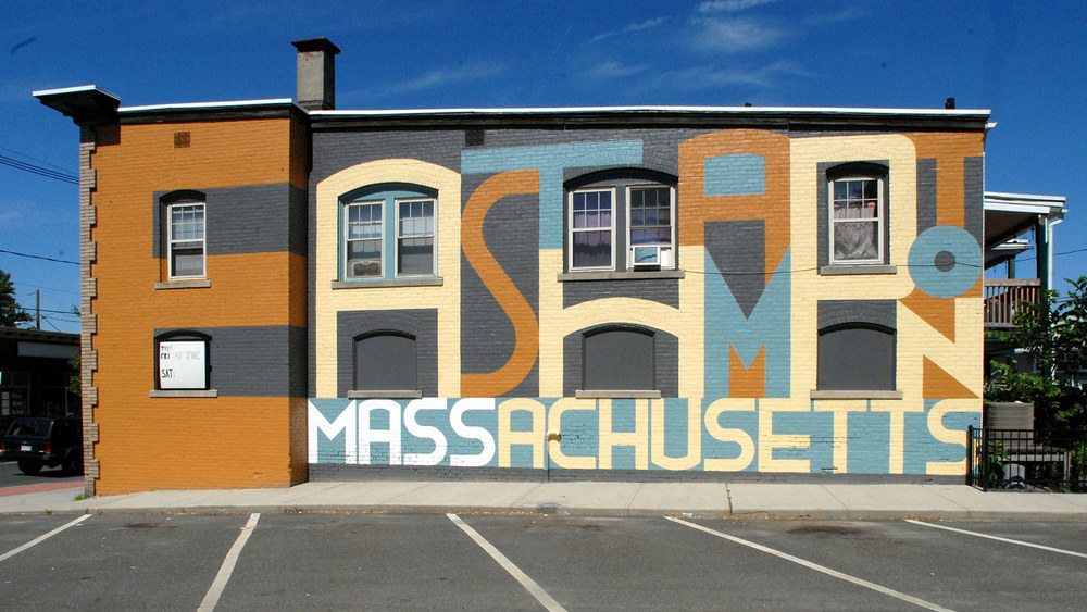 CLIENT: Easthampton City Arts A really big mural on Cottage Street in Easthampton, Massachusetts.