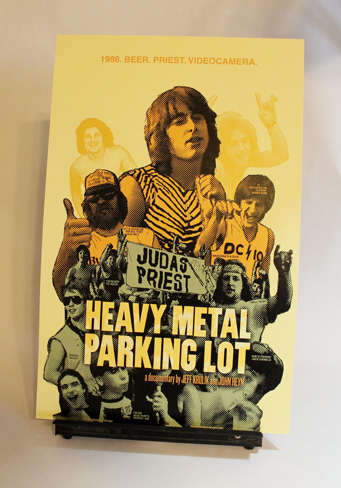 CLIENT: HMPL Official movie poster for John Heyn & Jeff Krulik's  Heavy Metal Parking Lot.   Available for purchase.