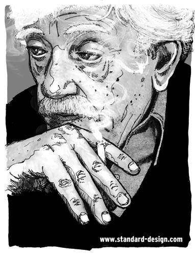 CLIENT: Valley Advocate Kurt Vonnegut editorial illustration