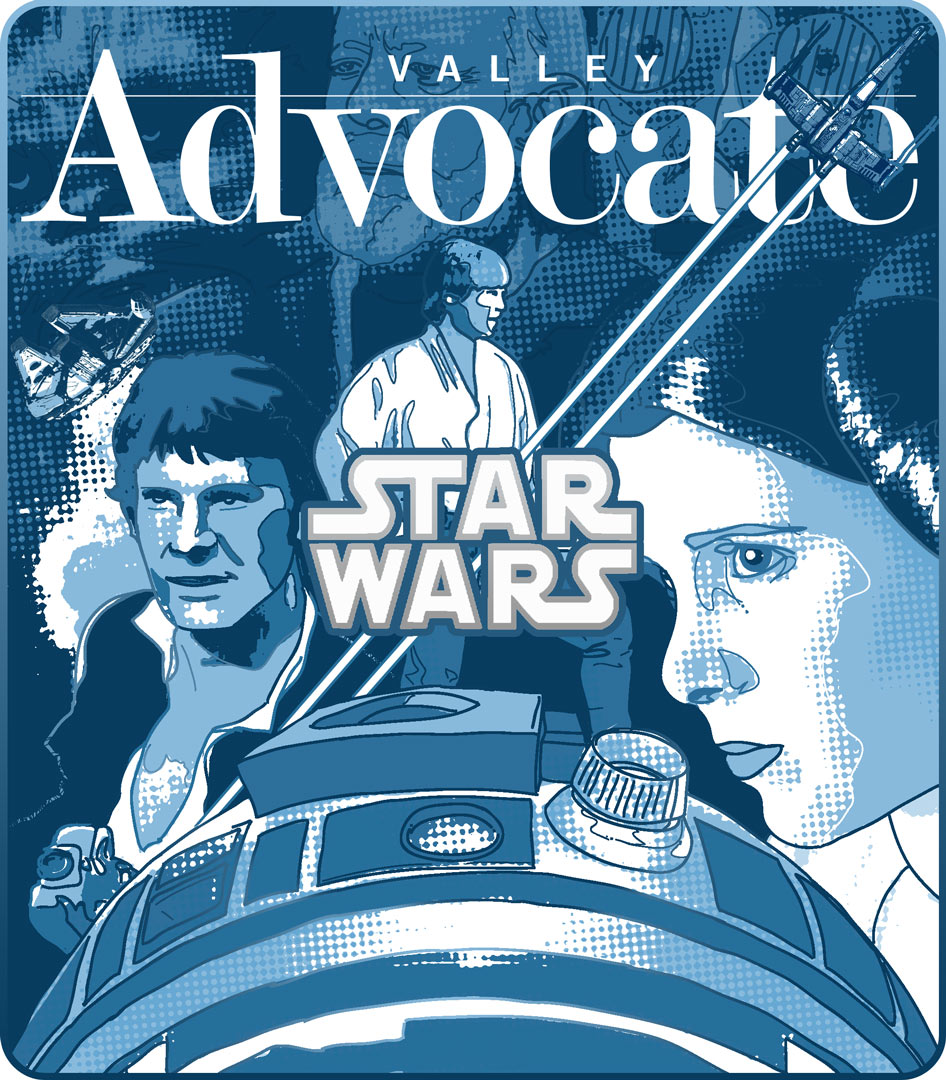CLIENT: Valley Advocate  Star Wars  anniversary cover art