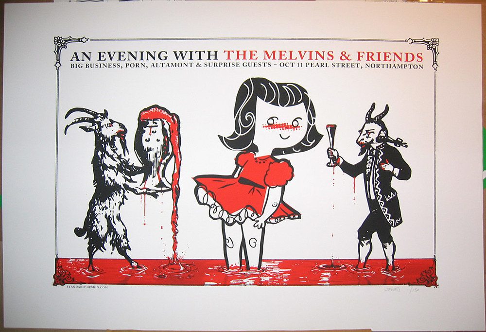 MELVINS Wicked evil screenprinted gig poster.  Available for purchase.