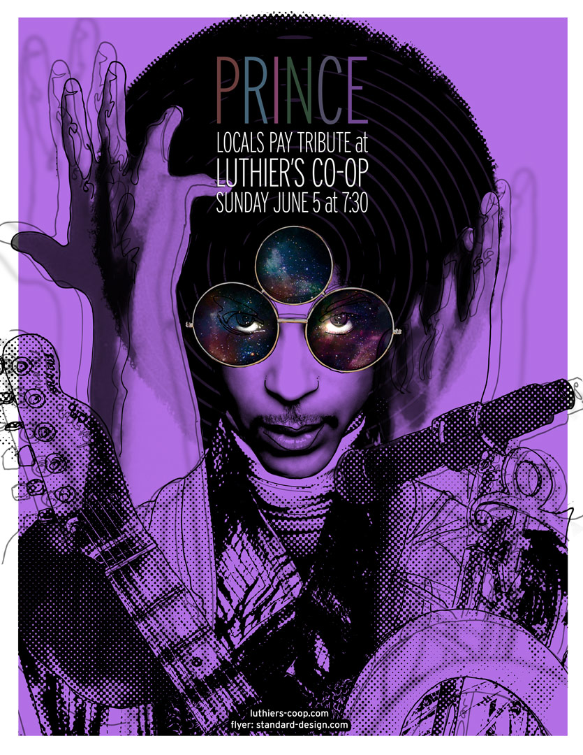 CLIENT: Luthier's Co-op Prince tribute poster
