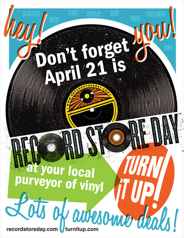 Record Store Day flyer (Turn It Up! Music & More)