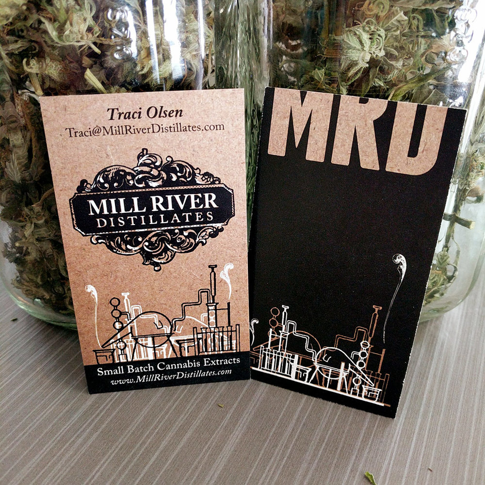 Mill River Distillates — business card design