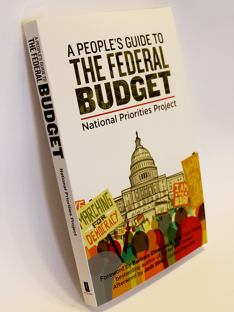 National Priorities Project - book cover design