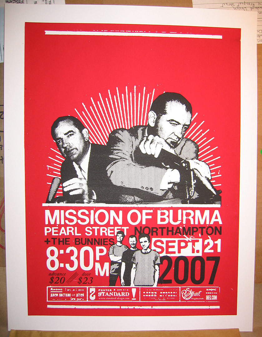 IHEG/Pearl Street - Mission Of Burma poster design