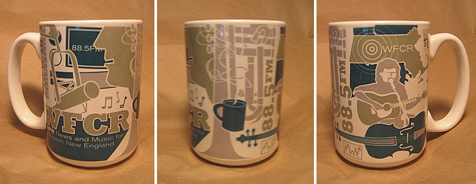 WFCR - coffee mug design