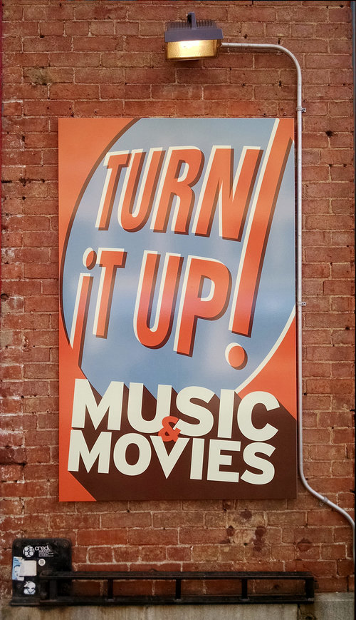 Turn It Up sign (Northampton)