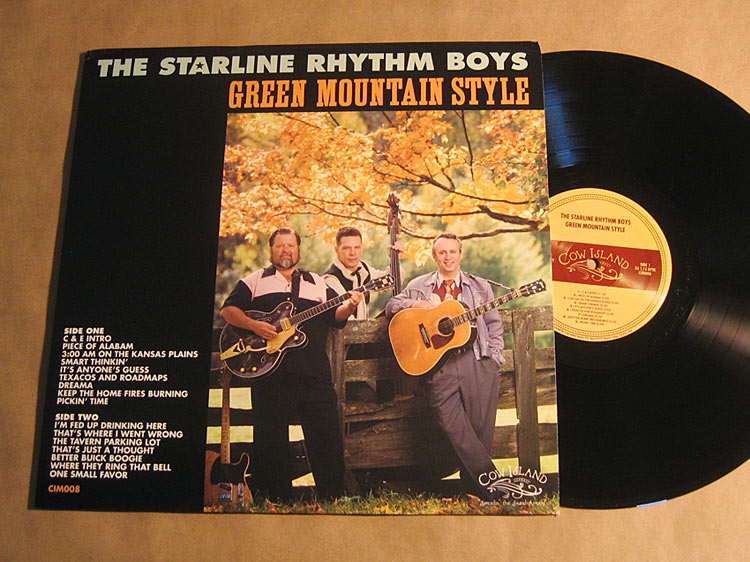 Cow Island Music - Starline Rhythm Boys LP jacket design