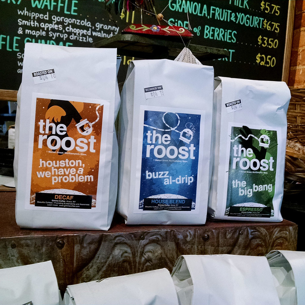 The Roost - coffee bag labels