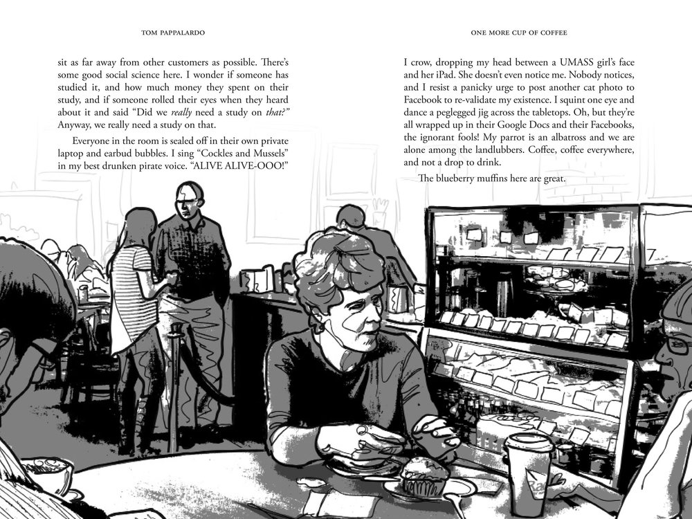 One More Cup Of Coffee  (2016, Object Publishing) two-page spread