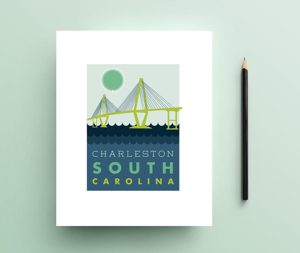 Charleston Bridge Print